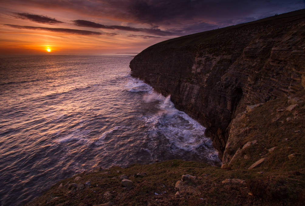 Cliff Sunset - Southerndown