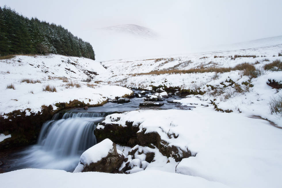 Pen Y Fan Waterfall - Brecon Beacons