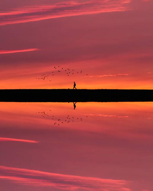 Man Reflection - Rhoose