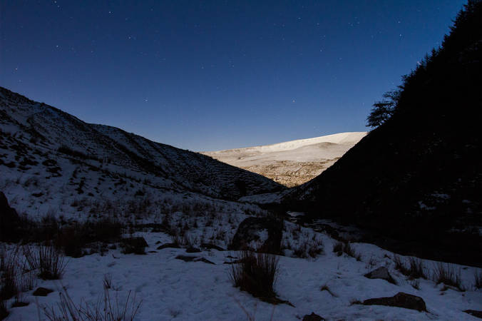 Moonlit Mountain - Brecon Beacons