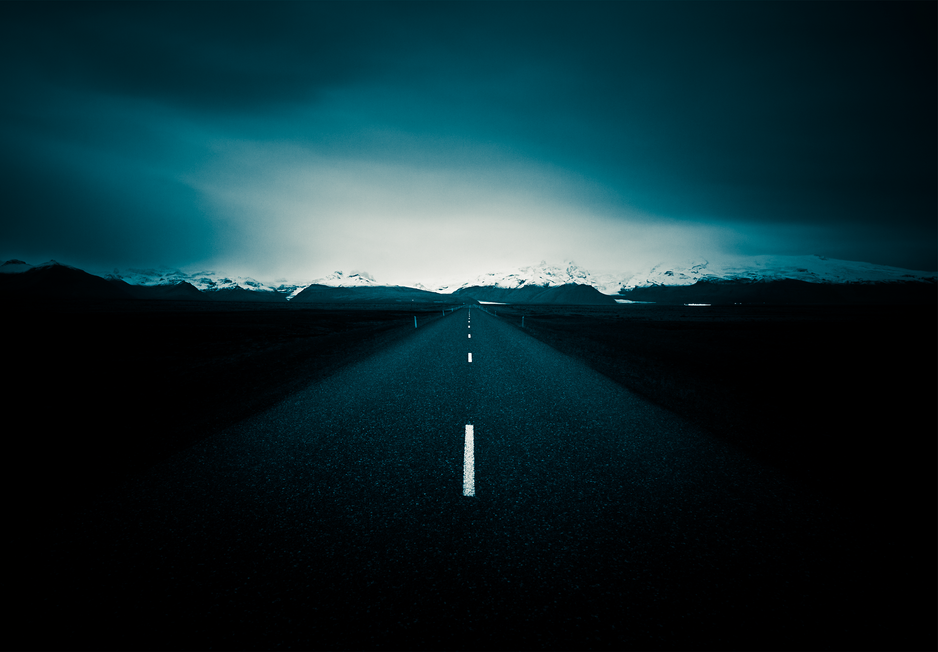 Mountain Road - Iceland