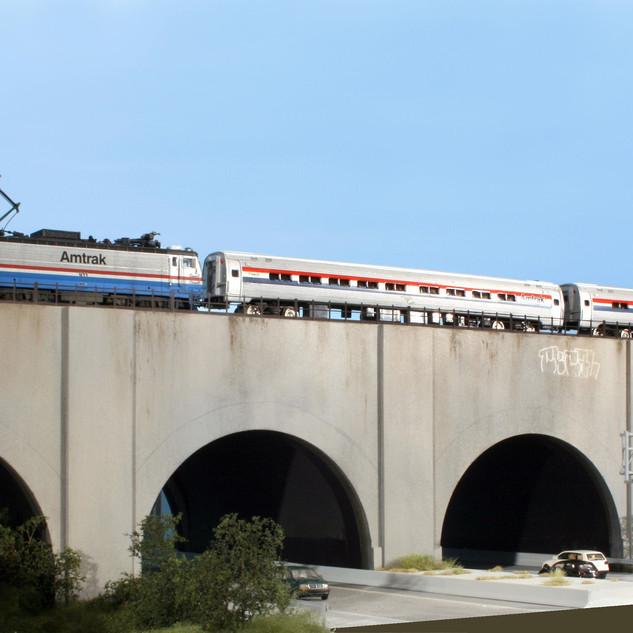 Amtrak over Northeast Corridor