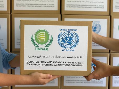 Ambassador Rami El Attar support the efforts against Coronavirus.