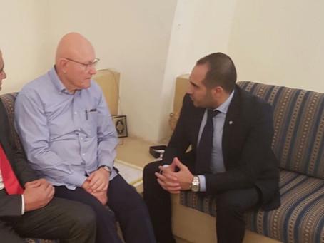 الرئيس تمام سلام يلتقي السفير رامي العطار