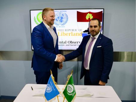 H.E. Rami El Attar Signs Bilateral Diplomatic Treaty with LIBERLAND
