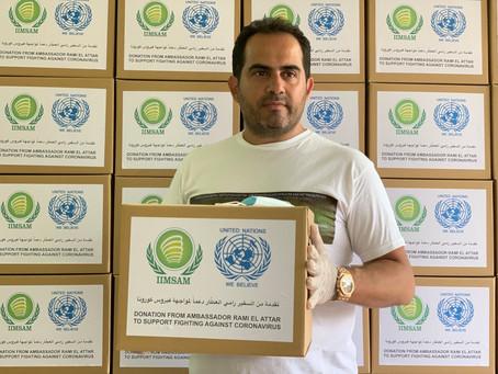 السفير رامي العطّار يدعم في زمن الكورونا