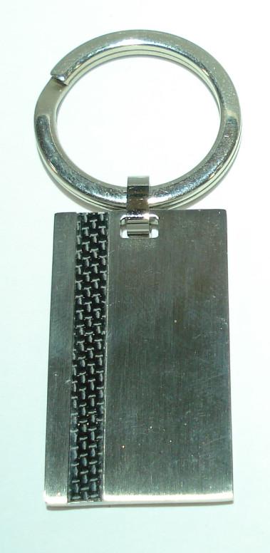 a5ca768fea3a Porte-Clés Acier inox 316L Fibre de carbone parfait pour graver une  PERSOANNAGE ou empreintes.