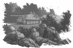 Soldiers_Tanks_Painting_Art_Tiger_Black_