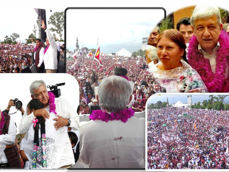 Zacatlán, uno de los contingentes de mayor presencia que enmarcaron el cierre de campaña de Miguel B