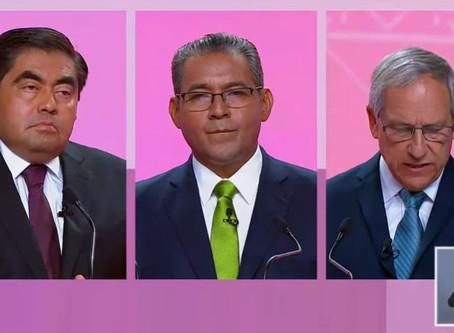 Los tres candidatos al gobierno de Puebla en debate