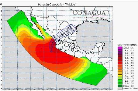 Willa se aproxima a tierra con vientos de 250 kilómetros por hora