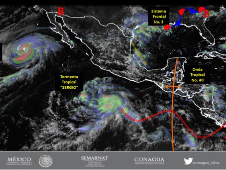 Mantienen monitoreo en Guerrero de trayectoria de tormenta Sergio