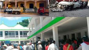 Chietla, Quecholac y Felipe Angeles, municipios con foco rojo en Puebla