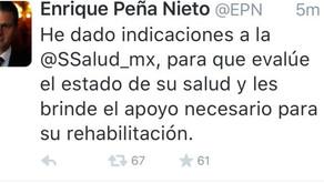 Mensaje de EPN sobre la llegada de mexicanos atacados en #Egipto
