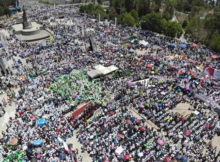 Encabeza Miguel Barbosa histórico cierre de campaña ante cerca de 100 mil poblanos