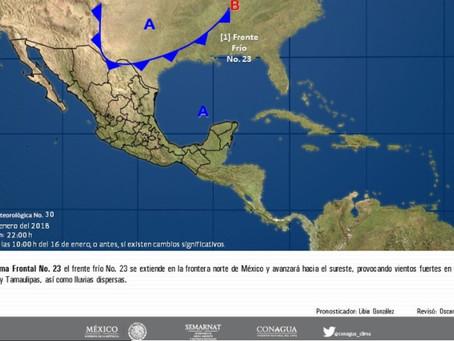 Continuará el ambiente muy frío en la mayor parte de México