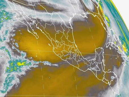 Pronostican para esta noche tormentas fuertes en zonas de Tabasco, Oaxaca y Chiapas, debido al Frent