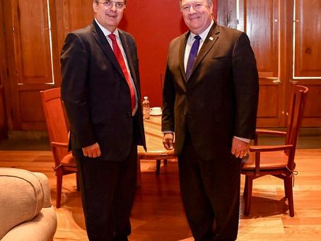 Se reúnen equipos de Marcelo Ebrard y Michael Pompeo, secretario de Estado de los Estados Unidos