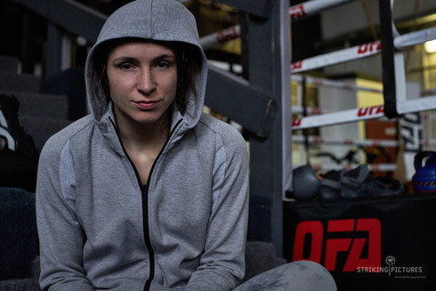 lucie pudilova ufc female fighter at ofa gym