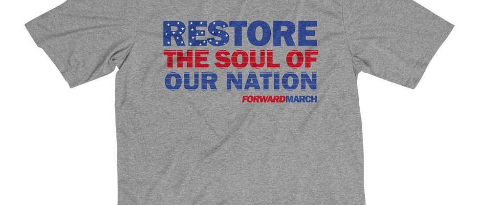 "Men's Dri-Fit T-Shirt—""Restore the Soul of Our Nation"""