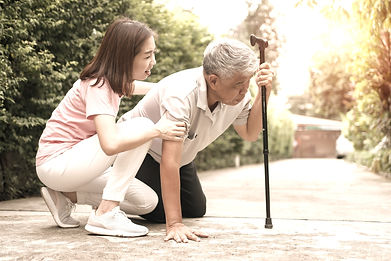 Accidental injuries are common in senior