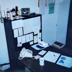 My office, Lee Meats, 1999