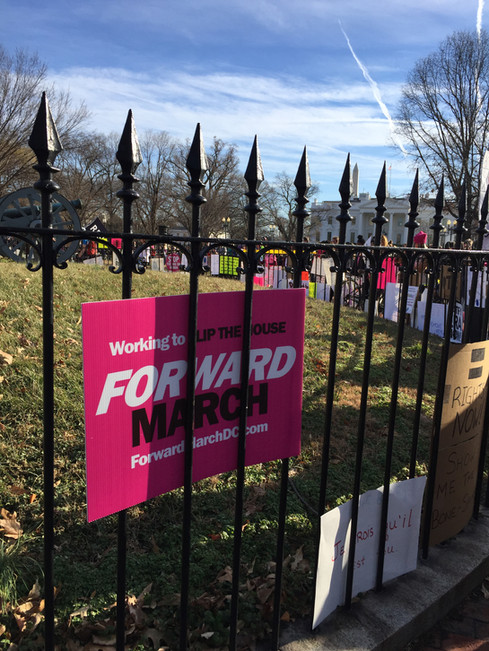 ForwardMarch on the White House fence!