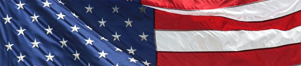 American flag footer