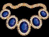 Luxury sapphire necklace