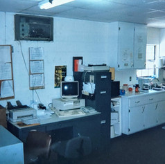 USDA Inspection Office, Lee Meats, 1999.  Note the newly arrived computer that we received 1997.