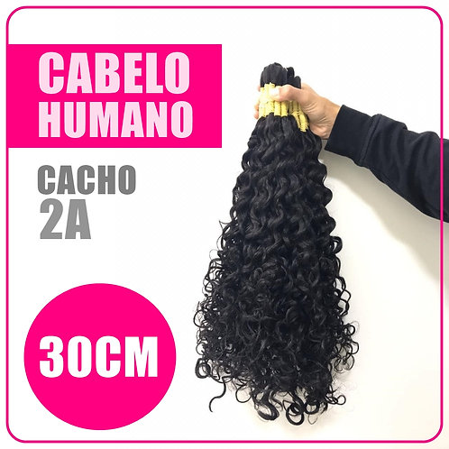 CABELO NATURAL CACHEADO 30CM