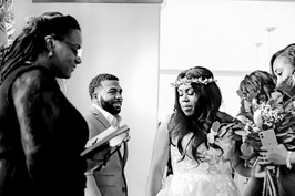 couple with black officiant