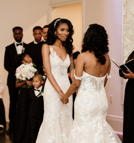 black femme lesbian wedding