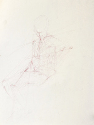 Sitting Figure, Searching Lines Approach
