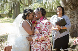 Black same sex wedding at the Tree of Life in New Orleans