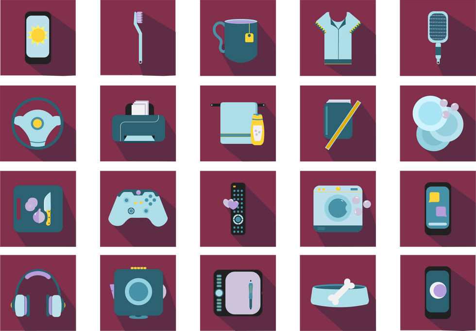 A day in the life icons