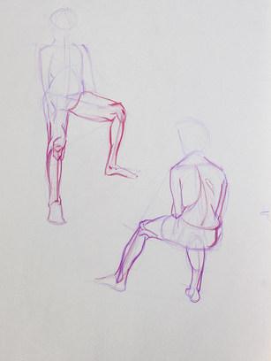 Leg Study, Constructive Lines Approach