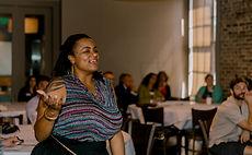 LaToya Papillion Herr speaking at NOLHA Diversity Training