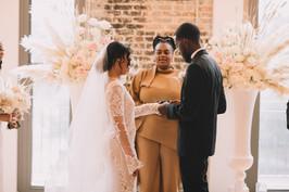 black wedding officiant loft wedding