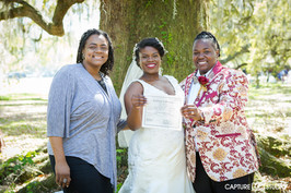 Black lesbian wedding at the Tree of Life in New Orleans
