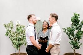 gay rooftop wedding