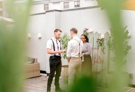 gay rooftop wedding vows