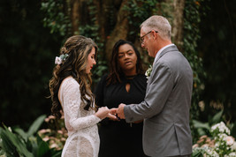 wedding under oak tree