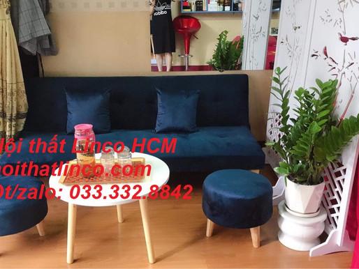Sofa màu xanh dương SFM| Sofa màu xanh da trời | Sofa màu xanh nước biển giá rẻ | Nội thất Linco HCM