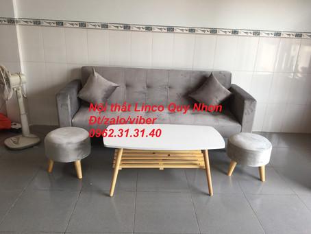 Bộ sofa bed bật thành giường nằm tay vịn tại thị trấn Tuy Phước, Bình Định
