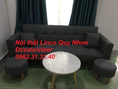 Bộ sofa bật thành giường, sofa bed tay dựa Nội thất Linco tại Đại lộ Khoa học, tx Sông Cầu, Phú Yên