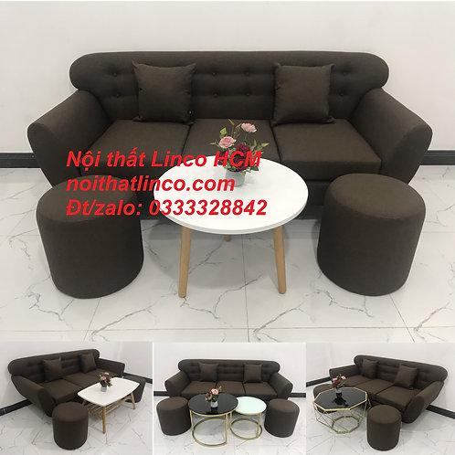 Sofa băng giá rẻ | Sofa băng màu nâu cafe | Ghế sofa băng | Nội thất Linco Tphcm