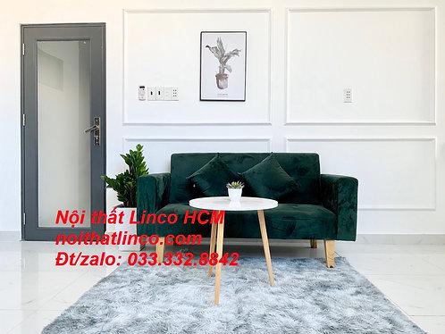 Ghế sofa dài 1m5 GTT01   Sofa băng nhỏ đa năng màu xanh rêu   Nội thất Linco HCM