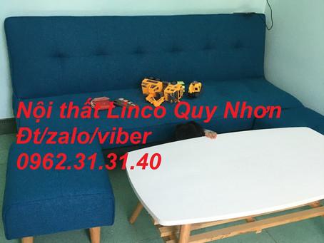 Bộ sofa bed, sofa bật thành giường 1m7 xanh dương Nội thất Linco tại Nguyễn Thái Học, Quy Nhơn