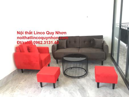 Bộ ghế sofa băng (văng) giá rẻ | Salon phòng khách đẹp | Nội Thất Linco Quy Nhơn